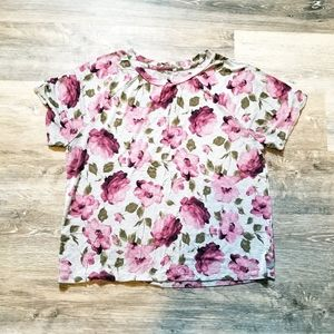 3/$20 AEO Soft and Sexy Floral Boxy Tee Large